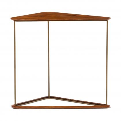 Bauta Side Table Tall - WITH NATURAL WALNUT TOP