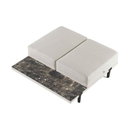 Asola Occasional Seat Table - asola occasional Emperador Dark Top