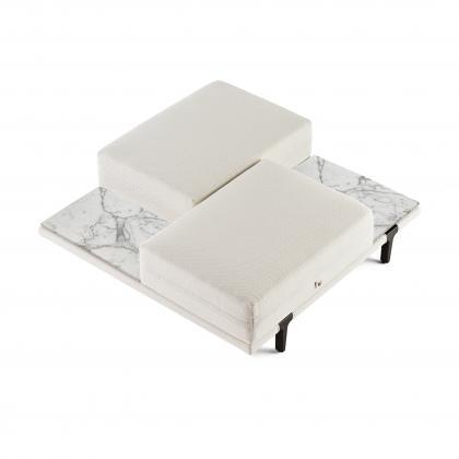Asola Occasional Seat Table - asola occas. seat t. Calacatta Vagli Shelves