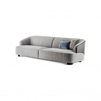 Velour Sofa 260-lago Leather Outside