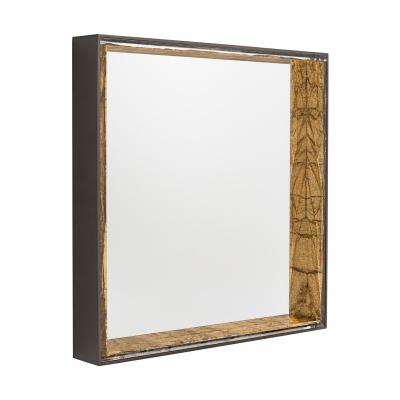 Gillo Square Mirror - BRONZO-DAMANTIO GOLD