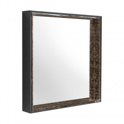 Gillo Square Mirror - NICKEL N.-DAM.BRONZO