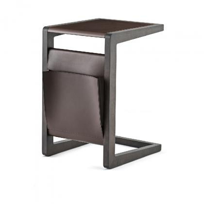 Ago Side Table - ago side table leather top&folder