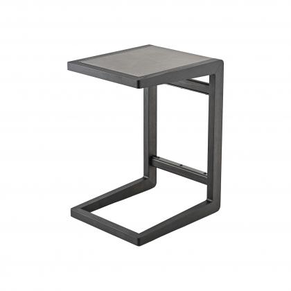 Ago Side Table - ago side table Brown leather top