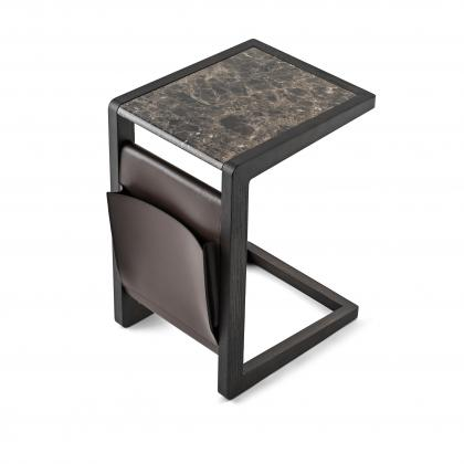 Ago Side Table - ago side table emperador Marb.&leather f