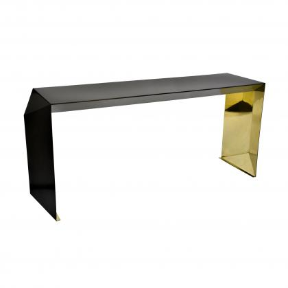 Origami Console Table   BRASS