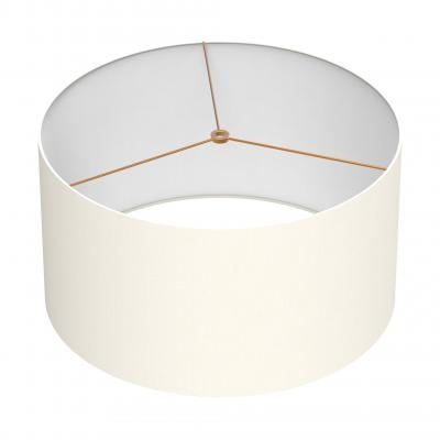 Cylindrical Shade 18 In - IVORY/BRASS