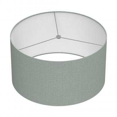 Cylindrical Shade 18 In - GREY/CHROME