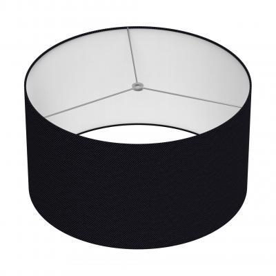Cylindrical Shade 18 In - NOIR/CHROME