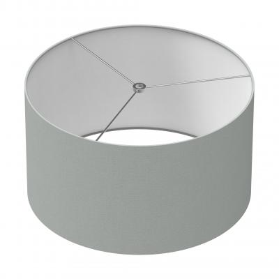 Cylindrical Shade 16 In - GREY/CHROME