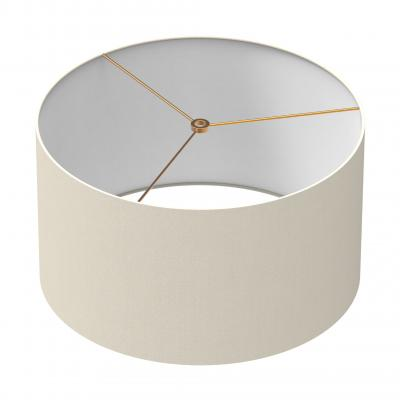 Cylindrical Shade 16 In - WHITE/BRASS