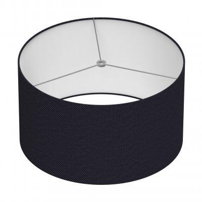 Cylindrical Shade 16 In - NOIR/CHROME