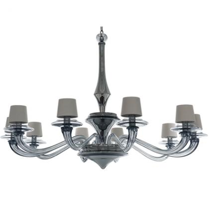 Luna Grande Chandelier-10 Arm - GRAPHITE