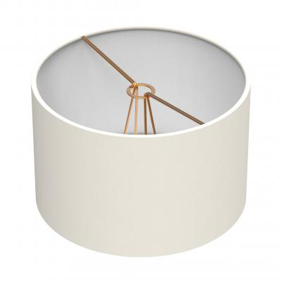 Chandelier/sconce Cylindrical Shade - IVORY/BRASS