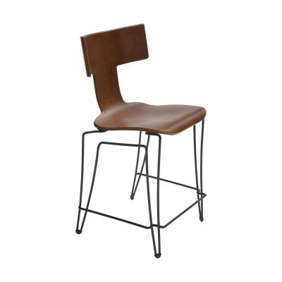 Anziano Bar Chair - COGNAC LEATHER