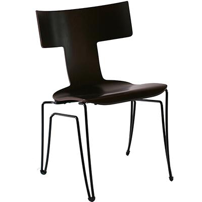 Anziano Chair - BROWN MAHOGANY