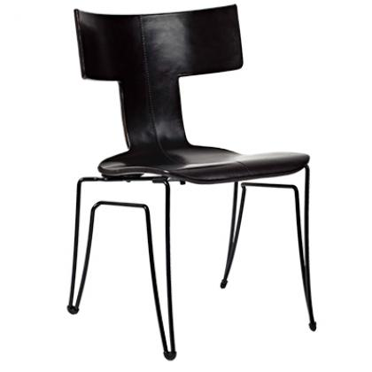 Anziano Chair - MIDNIGHT LEATHER